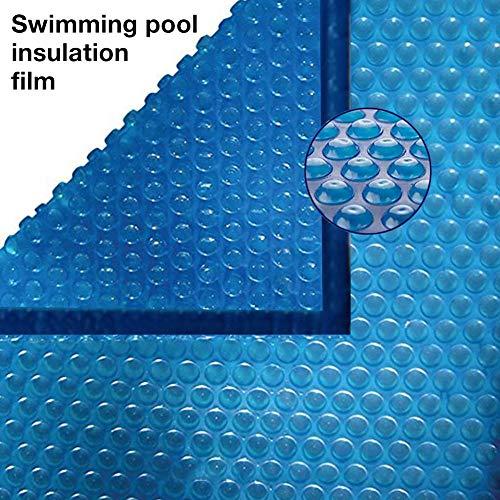 Pool Solarfolie Solarabdeckplane Poolheizung, PE-Abdeckplane, Solarabdeckplane Bubble Cover Solar Pool Cover mit verstärkten, vernähten Kanten und Ösen, Blau
