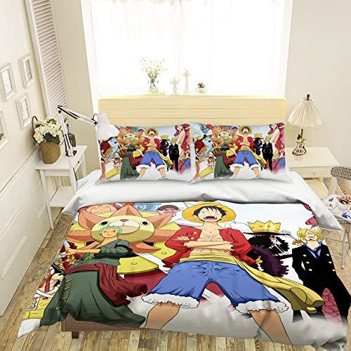 AJ WALLPAPER 3D ONE Piece 112 Japan Anime Game Bettwäsche Kopfkissen, Steppdecke Bettbezug Set Queen King | 3D-Foto Bettwäsche DE Wendy (Voll) - Voll Queen Bettwäsche Set