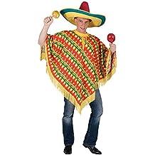 Unbekannt - Disfraz de poncho adultos, talla 52 - 54 (AC277)