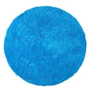shaggy teppich rund 60 cm durchmesser waschbar blau computer zubeh r. Black Bedroom Furniture Sets. Home Design Ideas
