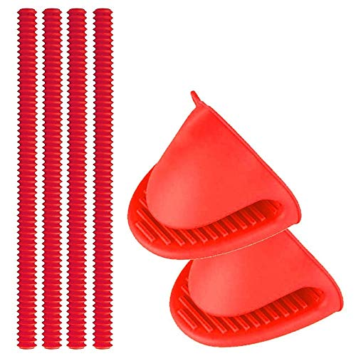 Oven Rack Shields Silikon Oven Shelf Rack Guard Protector + 2 Mini Mitts 100% zertifizierte BPA Free FDA Approved Heat Resistant Protect gegen Burns und Scars-4 Pack -