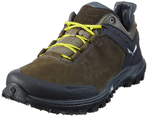 Salewa Herren Wander Hiker Leder Halbschuh Trekking-& Wanderhalbschuhe, Mehrfarbig (Black Olive/Bergot 0948), 46.5 EU