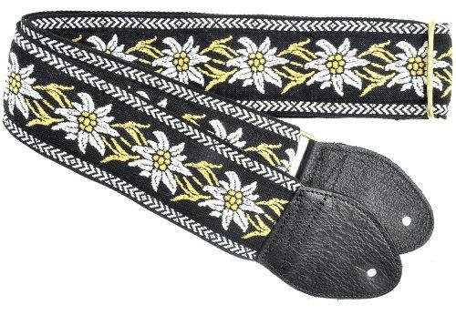 Souldier gs0922bk01bk Custom USA handgefertigt Gardenia Gitarrengurt, weiß/schwarz (Souldier Guitar Strap Acoustic)