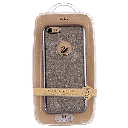 Für IPhone 6 Plus / 6s Plus, Galvanisierendes Blitzpulver TPU Schutzhülle DEXING ( Color : Pink ) Grey