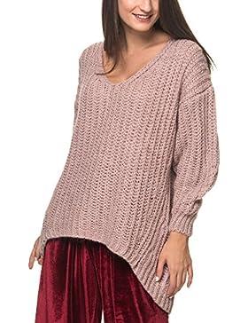 Friday's Project - Jersey De Mohair Cocoon, Color Rosa Sucio, Talla S, Mujer