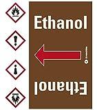 LEMAX® Rohrleitungsband Ethanol, praxisbewährt, ab Ø 50mm, braun/weiß, 33m/Rolle