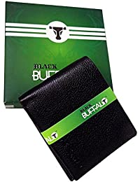 RAAYA Original Black Men's Leather Wallet Black Color, 140 Gram, Pack Of 1 (Model No. 11497)