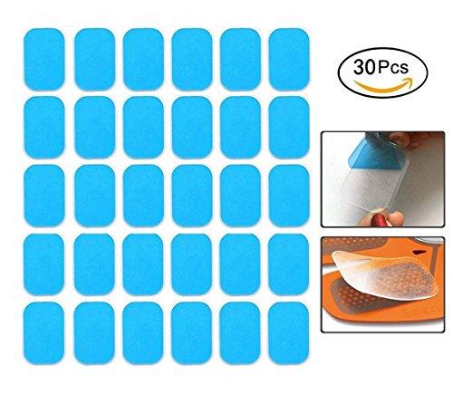 flyglobal ABS Ersatz-Pads, elektrischer Muskelstimulation Training Gear und Fettverbrennung Massage Gerät Trainer Ersatz Gel Tabelle Zubehör 12 Gel Blatt für Gel-Pad (2/Pack, 15/Sets)