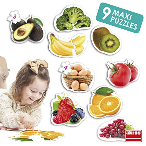 Akros 50222 Maxi Healthy Foods - Puzzles
