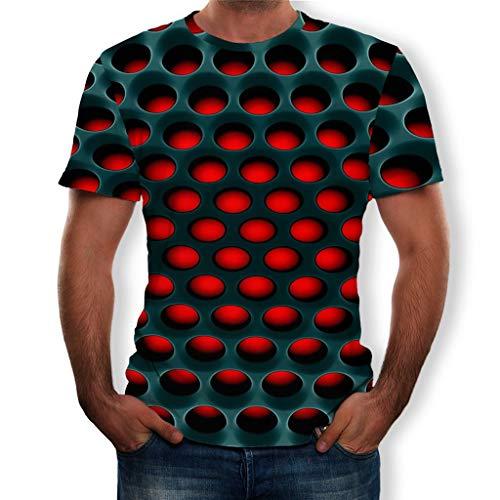 Kostüm Iguana - Liebespaar Tops,SANFASHION Herren Damen Mode Splash-Tinte 3D Druck Tees Shirt Kurzarm T-Shirt Bluse Tops Valentinstag Fuer ihn/sie