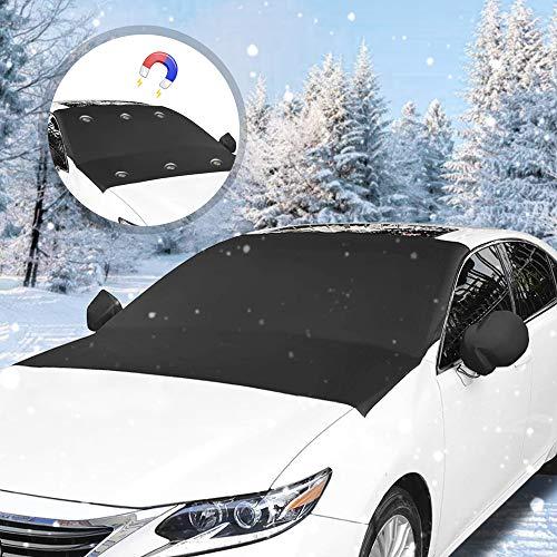 yotame Copertura Parabrezza Auto, Protezione Parabrezza Magnetic Protegge dal Gelo e Neve, Pieghevole e Rimovibile, Adatto per la Maggior Parte dei Veicoli (210 x 120cm)