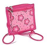 STEFANO Kinder Reisegepäck Schmetterling pink rosa -präsentiert von RabamtaGO- (Brustbeutel Blumen)