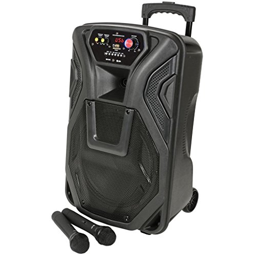 51Ul4fIb6hL. SS500  - QTX QK12PA Portable 12-Inch Busker PA Speaker System with Rechargeable Battery, Wireless Microphone, Bluetooth and MP3…