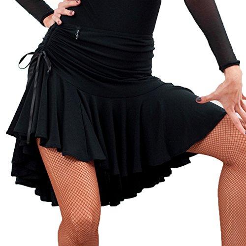 Frauen Standard Latin Dance Rock Ausbildung/Trainieren Tango Zumba Cha Cha Ballsaal Tanzkleid Natürliche Rüschen, ()