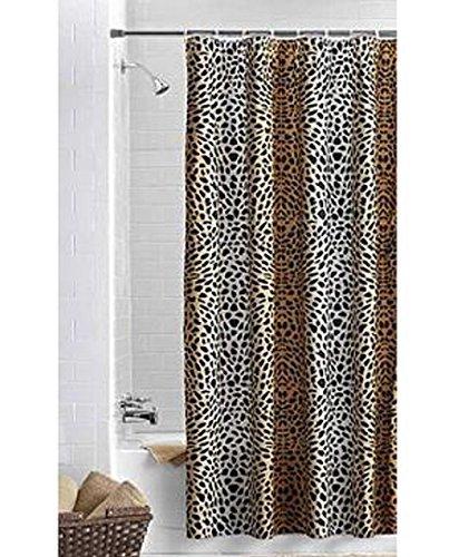 OMBRE Cheetah Schwarz Braun Stoff Vorhang für die Dusche