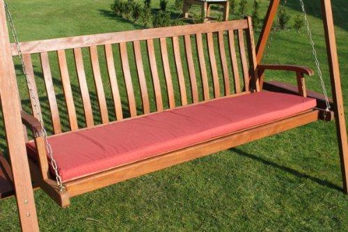 Gartenmöbel-Auflage - Auflage für 3-Sitzer-Hollywoodschaukel oder große Gartenbank in Terrakotta