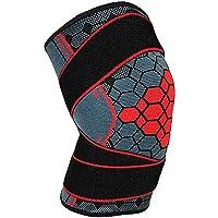 Soporte De Rodilla Compresión Brace Wrap Elastic Bandage Protector Turmalina Rodilleras Manga Patella Guardia para Voleibol Baloncesto Béisbol Gimnasio,L