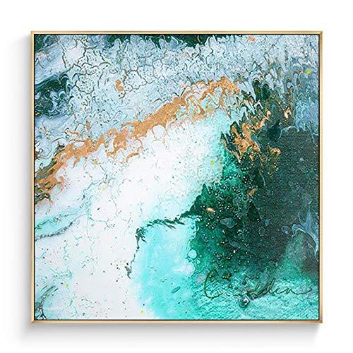 fengjiaren pittura ad olio dipinto a mano su tela,paesaggio di mare blu,per la casa parete decorazione arte pittura cafe bar salotto camera da letto