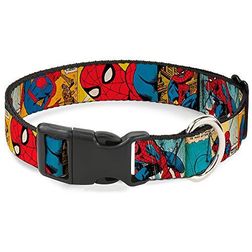 Hundehalsband, Kunststoff, mit Clip, Motiv Spider Man, 22,9 bis 38,1 cm, 2,5 cm breit (Spider-man-katze-kragen)