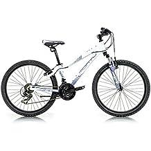 Monty KY7 Bicicleta, Unisex niños, Blanco/Lila, Talla Única