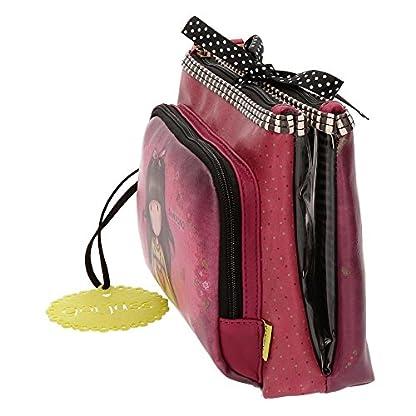 51Ul6qh94tL. SS416  - Santoro Gorjuss Heartfelt Beauty Case 3 Cremalleras Make Up Bag Bolsos Neceser Vanity Estuche