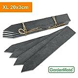 GardenMate® 8er Set Pflanzschilder XL 20x3cm aus Schiefer