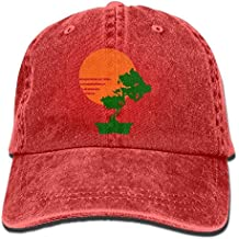 Rundafuwu Gorras de béisbol/Hat Trucker Cap Caps Hats Sun & Bonsai Tree Denim Hat