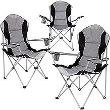 Miadomodo – Silla plegable de camping en color gris – disponible en diferentes sets de 1 a 6 piezas