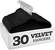 YANEK Non-Slip Velvet Suit Hangers 100 Pack - Ultra Thin Space Saving 360 Degree Swivel Hook Strong and Durabl