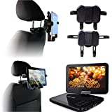 Navitech twin pack In Car Portable DVD Player Head Rest/Headrest Mount/Holder For The VK-SYTEC