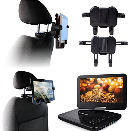 Navitech Im Auto Portabel DVD-Player Kopfstütze / Kopfstütze Halterung / Halter für die APEMAN 10.5\'\'