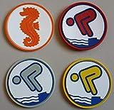 Erlebe Wasser Seepferdchen, Bronze, Silber, Gold Schwimmabzeichen PVC RUND