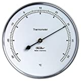 Fischer Präzis Thermometer im Edelstahlgehäuse, Durchmesser 10cm