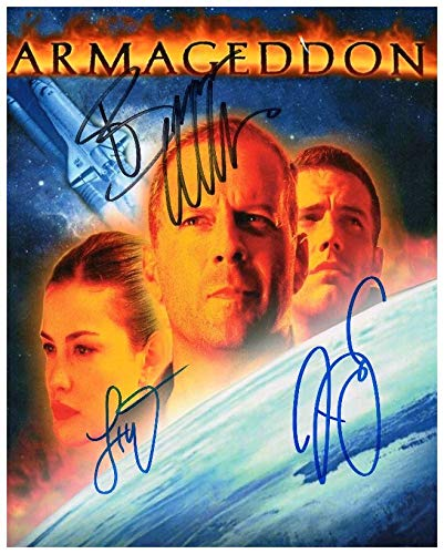 FM Armageddon - Ben Affleck & Liv Tyler & Bruce Willis Signiert Autogramme 21cm x 29.7cm Plakat Foto (Ben Bruce Poster)