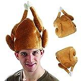 Belldan Erwachsenenhut Fried Hähnchen,Chicken Party Hut Mütze Halloween Karneval Huhn Henne Hahn,Grillhähnchen Hut