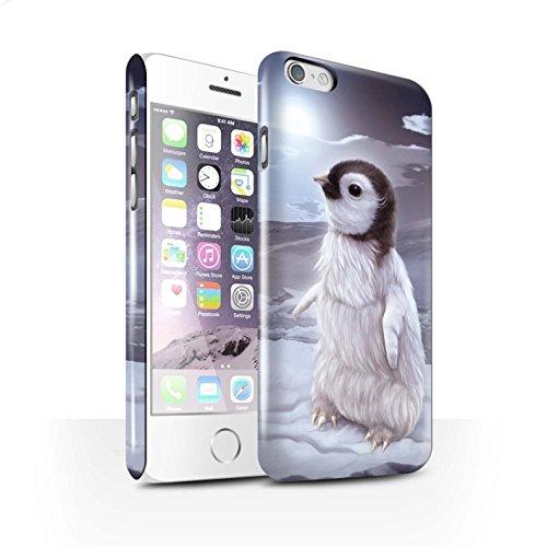 Officiel Elena Dudina Coque / Clipser Brillant Etui pour Apple iPhone 6 / Loups Blancs Design / Les Animaux Collection Le Voyageur/Manchot