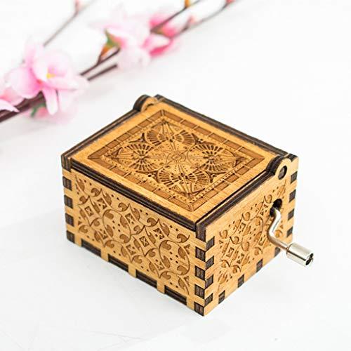 s hölzernes Handwerk der hölzernen Spieluhr der Spieluhr Reine handklassische Spieluhr Hand-Holz-Spieluhr Kreative Holzhandwerk Beste Geschenke (B) ()