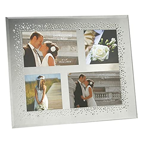 Wedding Mirror Glass Frame Starburst Crystals Design For Square Collage Pictures by Juliana