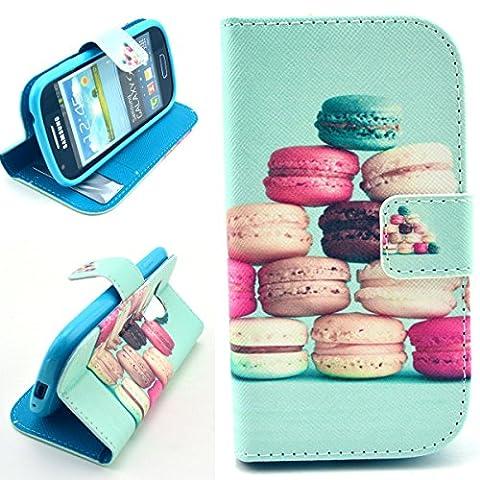 Dokpav® Samsung Galaxy S3 Mini (S iii Mini) i8190 Hülle,Ultra Slim Dünn Flip PU Leder Tasche Case Cover für Samsung Galaxy S3 Mini (S iii Mini) i8190 Mit Innen steckfächer für