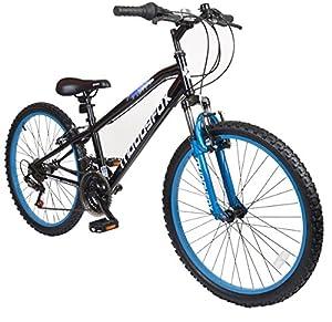 "Muddyfox 24"" Sniper Boys Hardtail Mountain Bike - 18 speed Shimano Twist Grip - Black and Blue - Frame Size 16"" from MuddyFox"