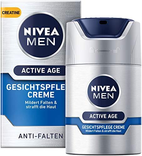 NIVEA MEN Active Age Gesichtspflege Creme im 1er Pack (1 x 50 ml), straffende Gesichtscreme für Männer mit Kreatin, Anti Age Gesichtscreme