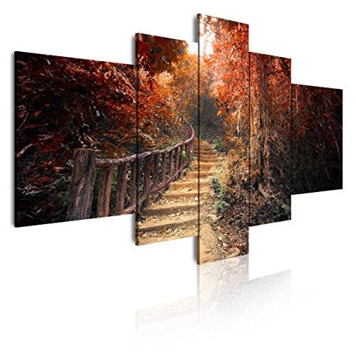Dekoarte 195 - Cuadro moderno lienzo 5 piezas, naturaleza