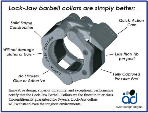 Lock-Jaw-Olympic-Bar-Collars-2-BLUE-weight-lifting-crossfit-gym