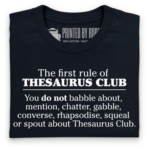 Thesaurus Club T-shirt, Uomo Nero