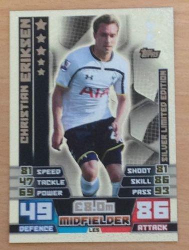 15Fußball Karte Tottenham Eriksen Silber Limited Edition ()