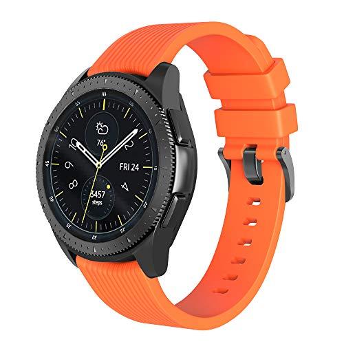 NotoCity Kompatibel Armband Galaxy Watch (42mm) Ersatz Silikon Uhrenarmband für Gear S2 Classic R732/Gear Sport Watch/Vivoactive 3 -