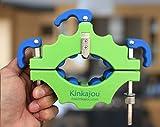Kinkajou Bottle Cutter, Flaschenschneider, Glasflaschenschneider im Set. Farbe: Schwarz / Blau inkl. Silikon Trennbinder und Schleifpapier