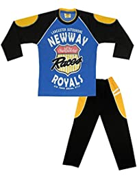 Kid's Care Night wear - Track Suits - Pyjama Tshirt Casual wear Combo Set Or Kids/Boys-Cotton Material- Full Sleeve - Kids Wear - Track Pant and Tshirt(5037BL-N_Blue)