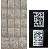 Joyibay 21 STÜCKE Malerei Schablone Album Zeichnung Vorlage Transparente DIY Handwerk Schablone Vorlage