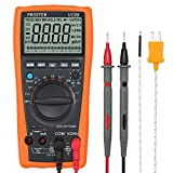 Rango Automático Multímetro Digital Proster VC99 Multímetros Amp/ Ohm / Voltímetro Multi Tester con la Prueba de la Capacitancia y Medición de Temperatura - Lectura Máxima Hasta 5999 y 2000uF